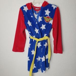 DC COMICS wonder woman girls hooded bath robe